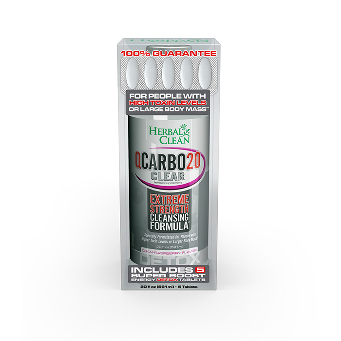 QCARBO PLUS WITH BOOSTER. Cranberry-Raspberry flavor.
